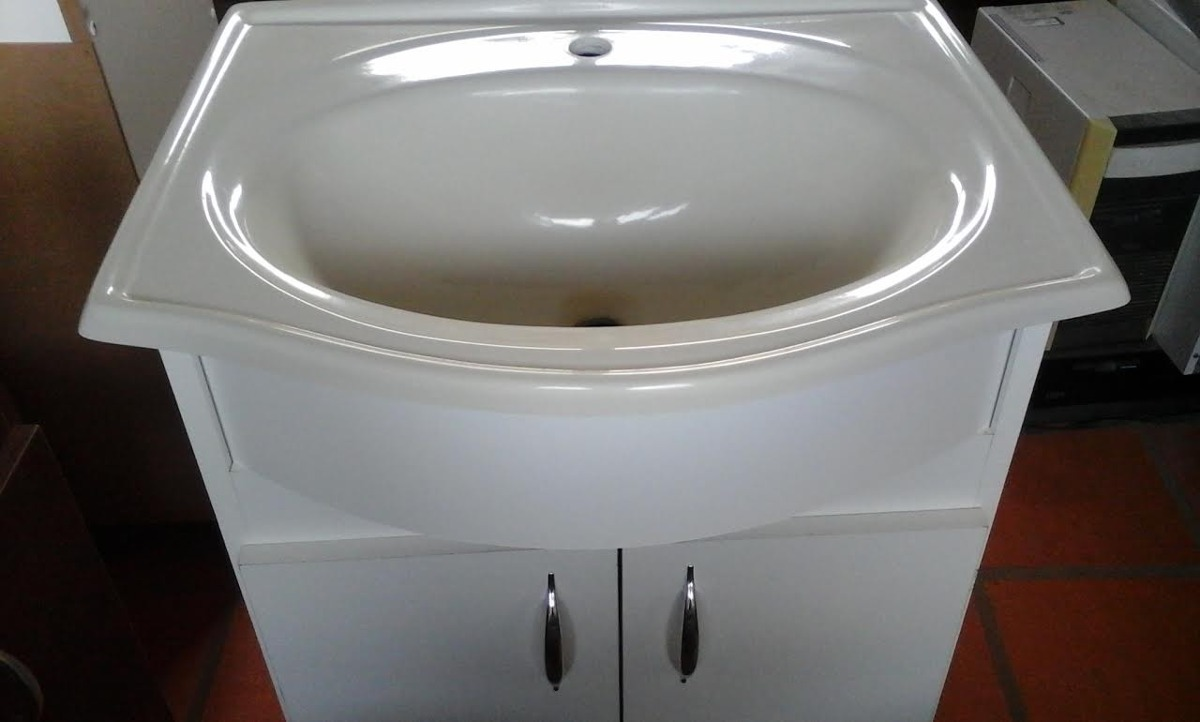 Muebles Para Baño Uy:Mueble De Baño+bacha Pileta Curva 60 Cm Envío+colores+cuotas – $ 2