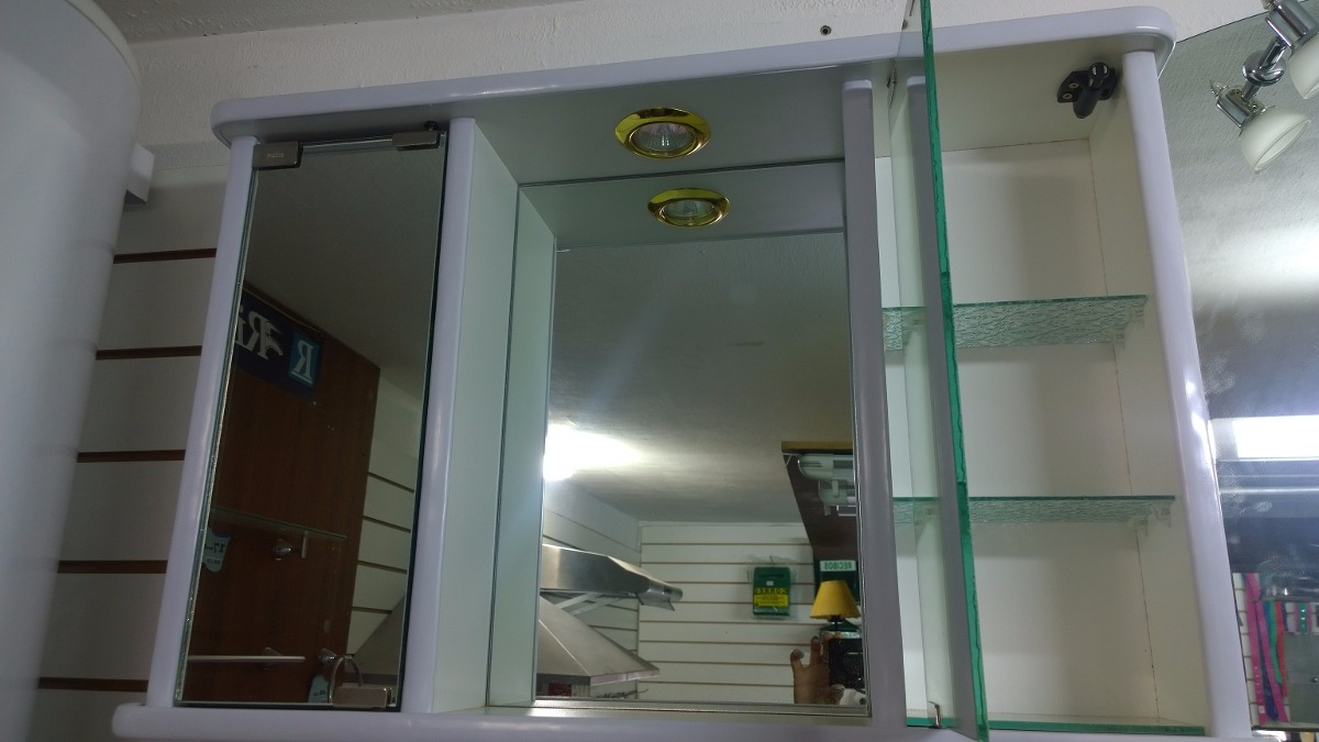 Mueble De Ba O Blanco O Negro Luz Espejo 2 Puertas Botiquin
