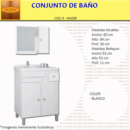 mueble de baño - botiquin con epejo - bacha - lcm