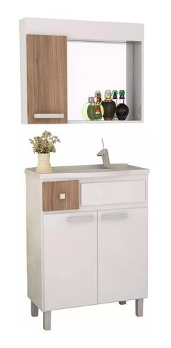 mueble de baño - combo de bajo mesada pileta y botiquín
