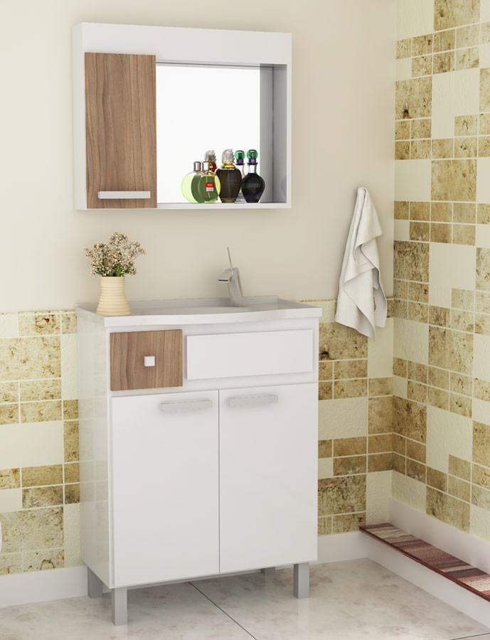 Mueble de ba o combo de bajo mesada pileta y espejo for Combo muebles hogar