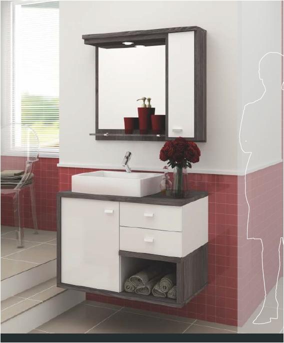 Mueble de ba o con botiquin espejo y bacha u s 500 00 en for Classic muebles uruguay