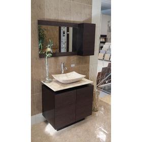 Mueble De Baño Con Lavabo De Marmol Y Espejo Mdf Bety