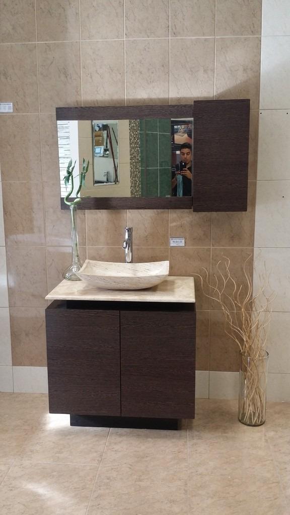 Mueble de ba o con lavabo de marmol y espejo mdf bety 9 en mercado libre - Lavabos para muebles de bano ...