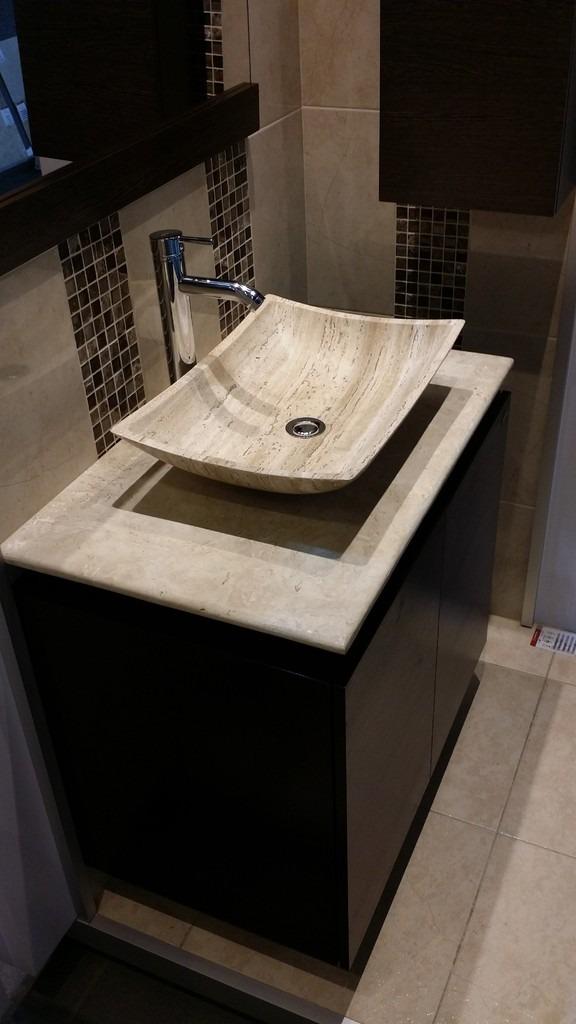 Mueble de ba o con lavabo de marmol y espejo mdf bety for Articulos de bano chile