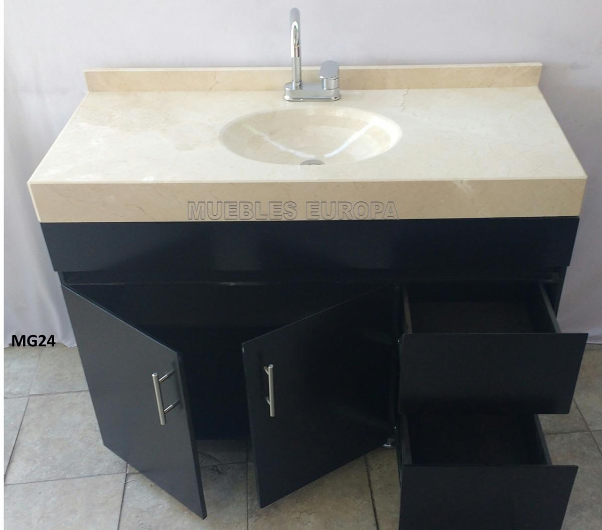 Mueble de ba o con lavabo marmol todo listo para instalar for Mueble bano con lavabo