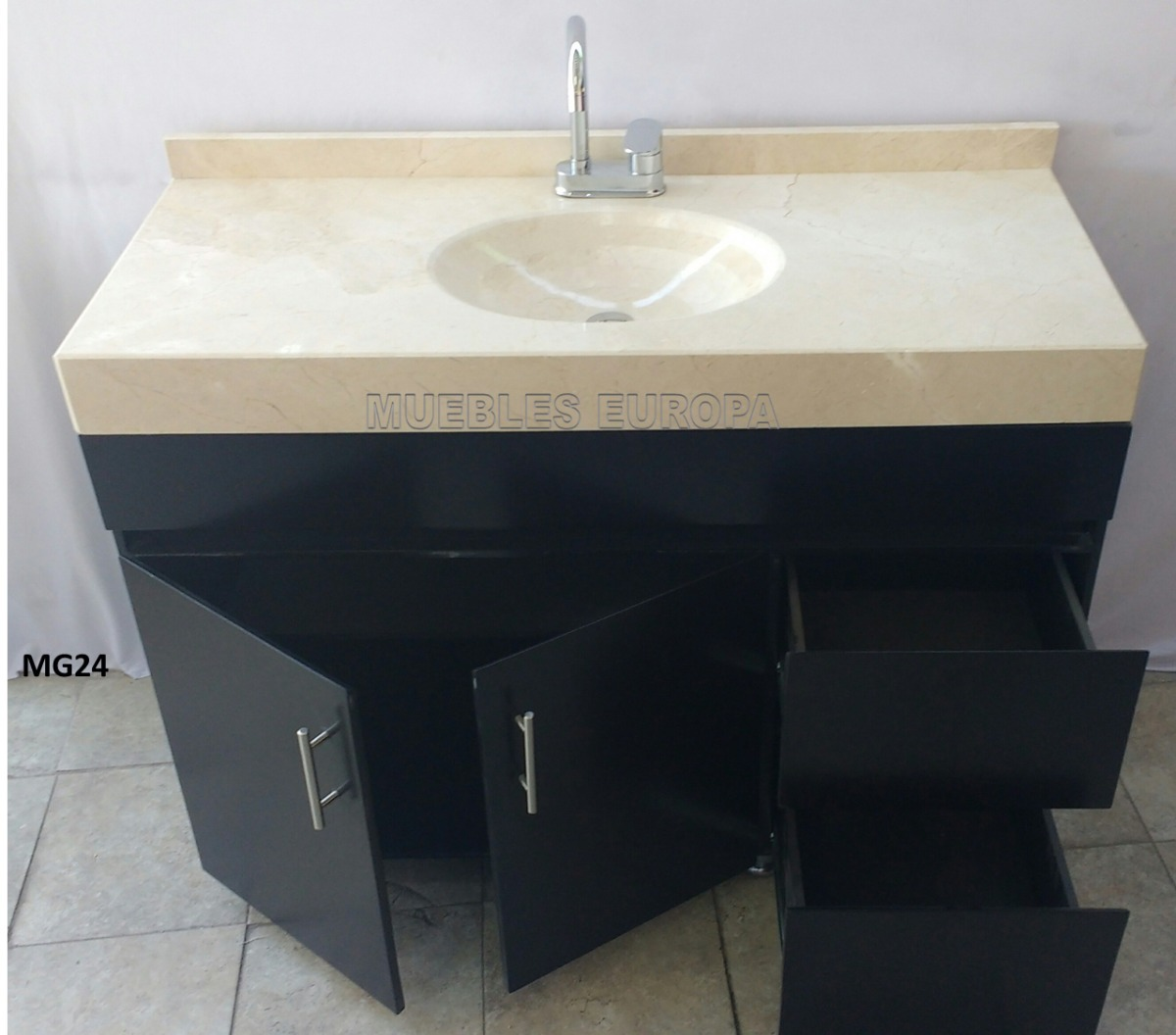 Mueble De Ba O Con Lavabo Marmol Todo Listo Para Instalar 8 En Mercado Libre