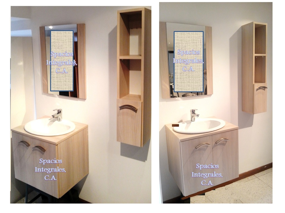 Muebles para lavamanos muebles con lavabo y espejo diseo for Lavadero empotrado