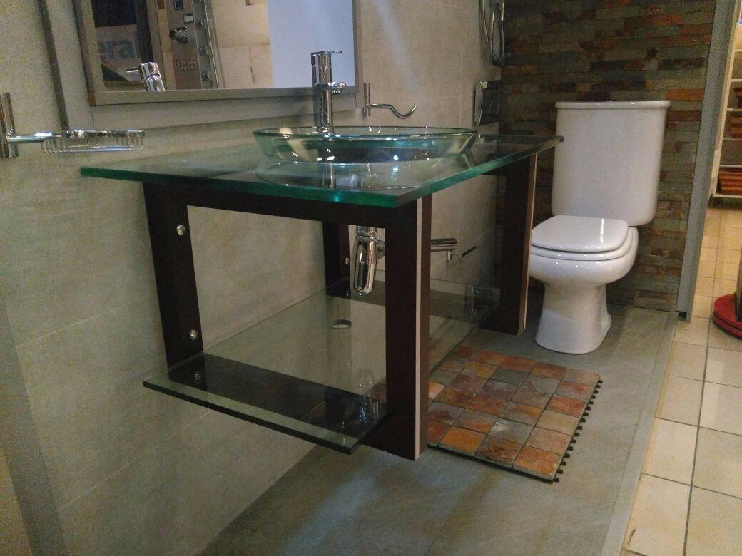 Mueble de ba o de cristal vindex en bagno company u s for Muebles bano montevideo