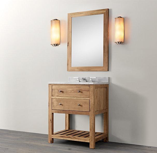 Mueble de ba o en madera eucaliptus en for Muebles madera montevideo