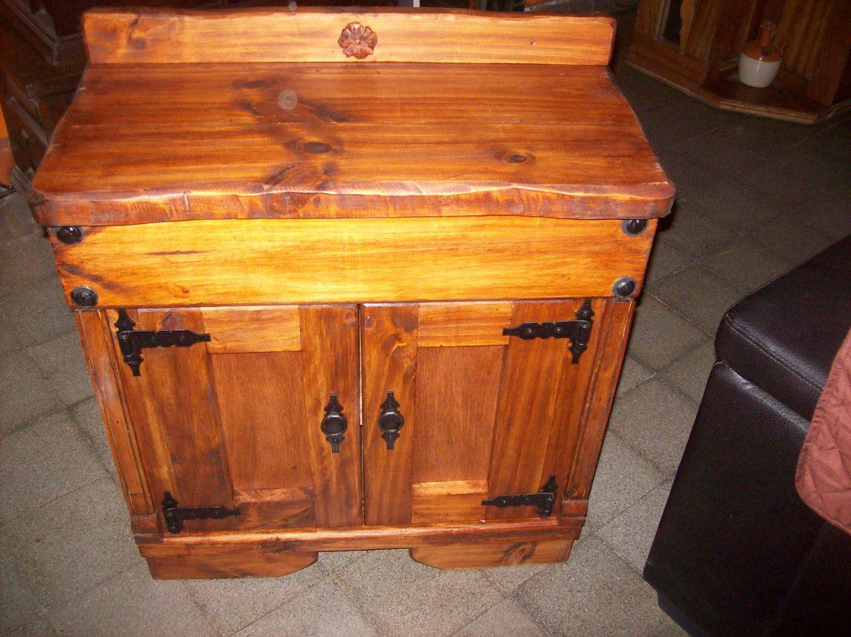 Mueble de ba o mesada madera maciza en for Muebles de madera maciza