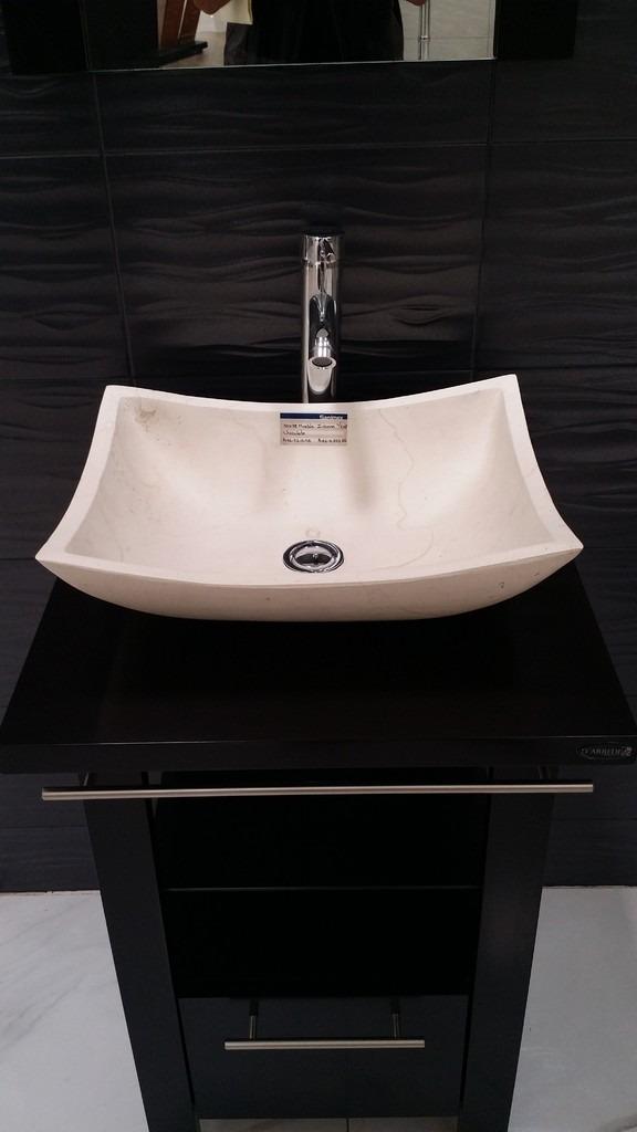 Mueble de ba o minimalista lavabo con marmol y espejo for Marmol para banos precios