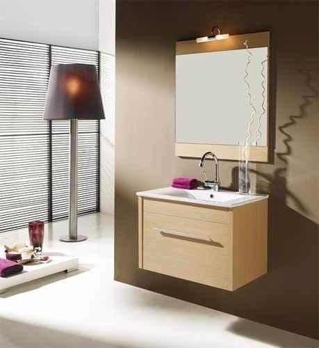 Mueble de ba o moderno con espejo bs en for Mueble con espejo para bano