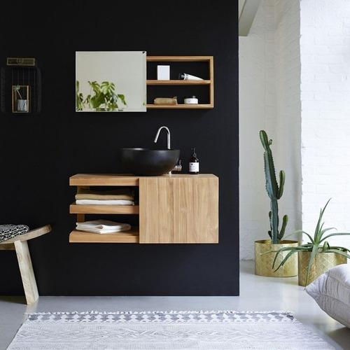mueble de baño moderno de encino h