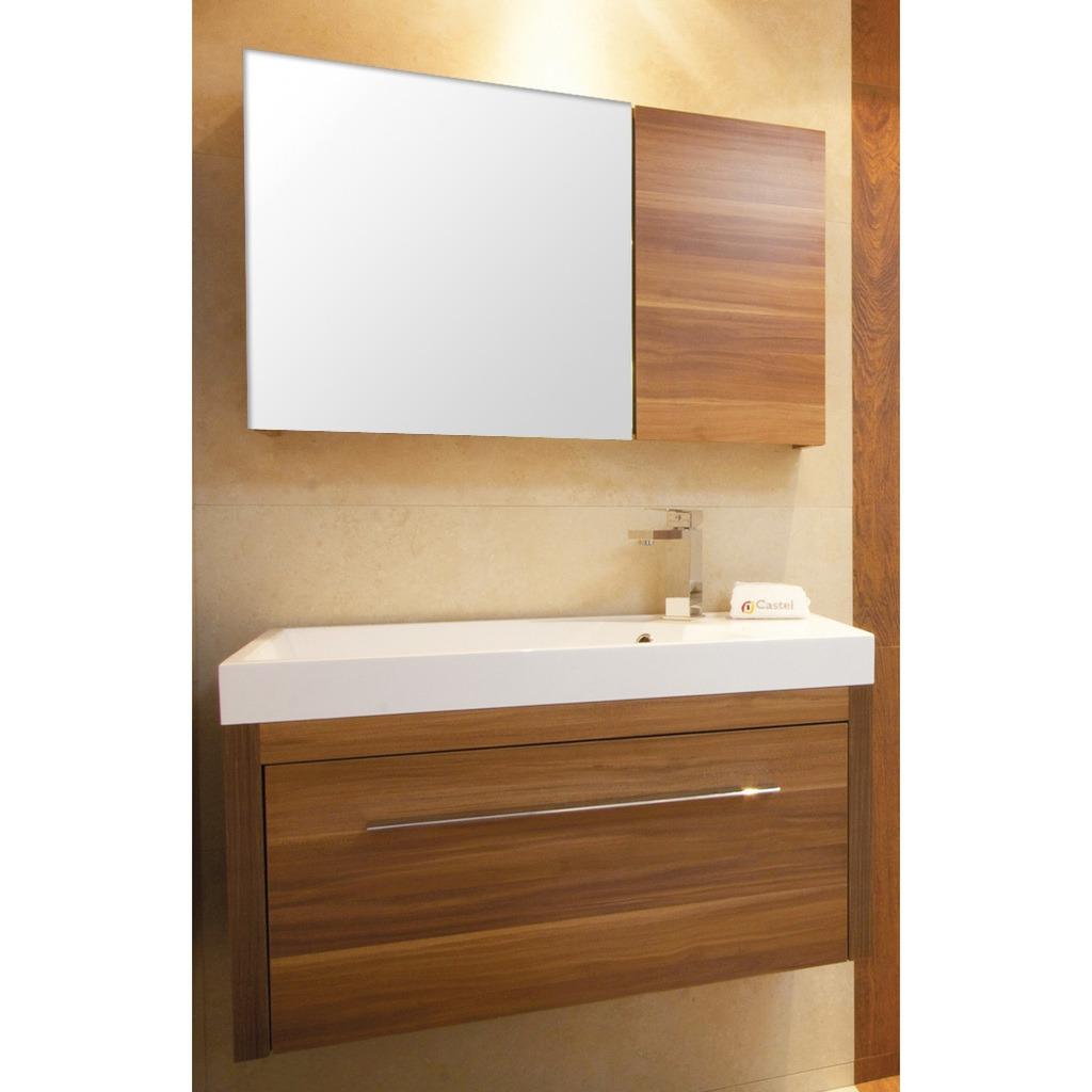 Mueble de ba o teruel 80 teka con lavabo y espejo for Mueble para bano