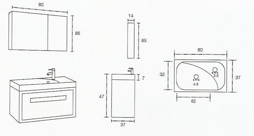 Muebles De Baño En Teka : Mueble de ba?o teruel teka con lavabo y espejo