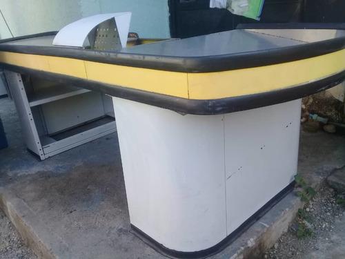 mueble de caja pará negocio de supermercado