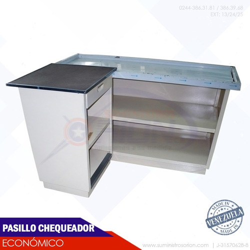 mueble de caja pasillo chequador galaxy supermercado abastos