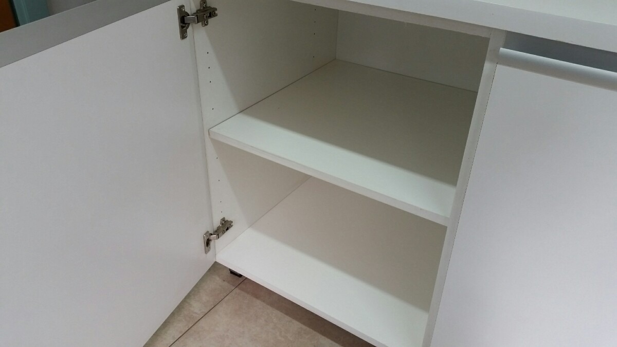 Mueble De Cocina 2 Mts Manijas J Aluminio Melamina - $ 17.198,00 en ...