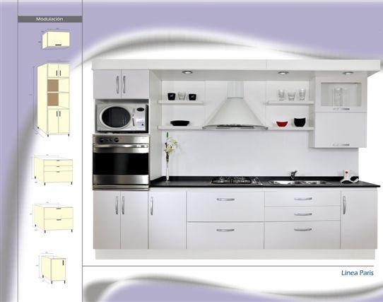 Mueble De Cocina A Medida Laqueado Blanco Amoblamientos Fl