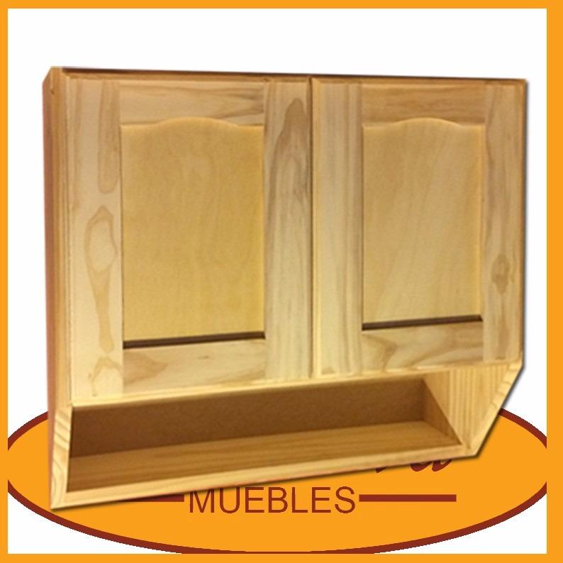 Mueble de cocina aereo 2 puertas alacena madera for Mueble aereo cocina uruguay