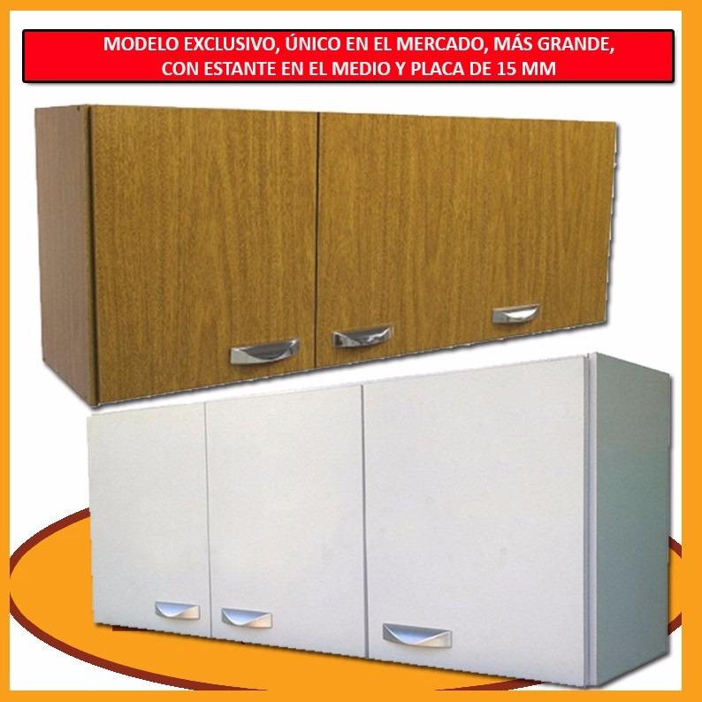 Mueble de cocina aereo grande 3 puertas estante for Mueble aereo cocina uruguay