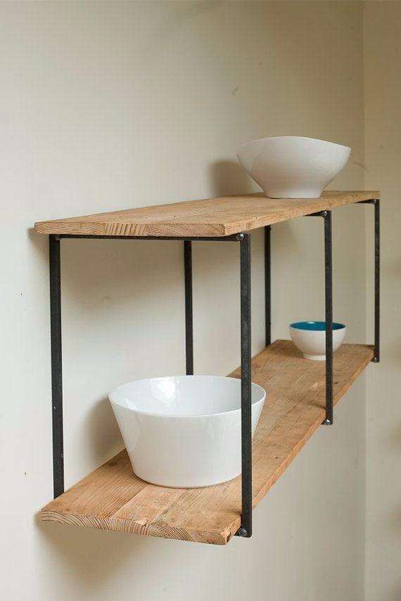 Mueble de cocina aereo industrial hierro y madera pallets for App para hacer muebles