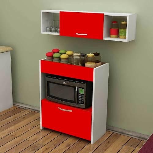 Mueble De Cocina Alacena Despensero Porta Microondas Bajo - $ 6.043 ...
