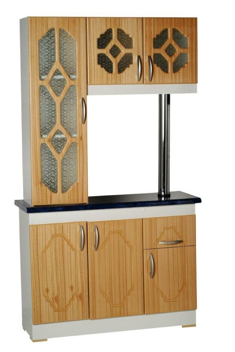 mueble de cocina americano 3 y 4 cps blanco y madera