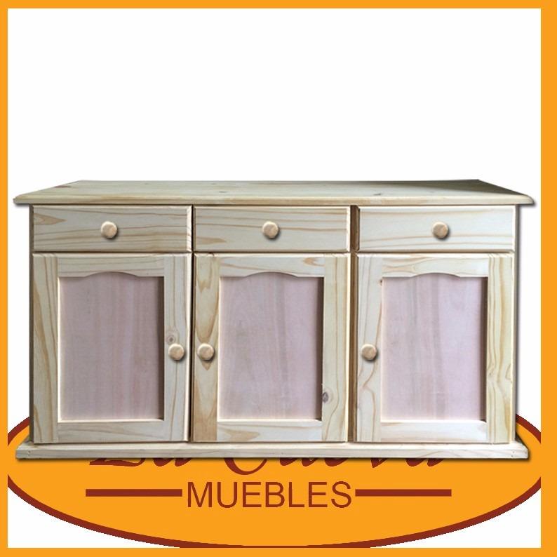 Aparador cocina mueble auxiliar para cocina con tres for Mueble estrecho cocina