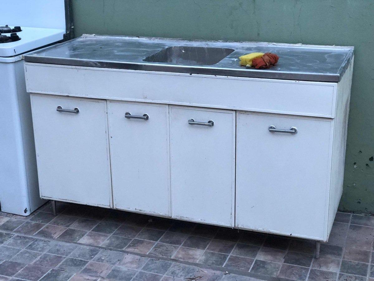 Mueble De Cocina Bajo Mesada Bacha Y Mesada Acero Inoxidable - $ 6.100,00