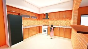 Mueble De Cocina Cedro Madera Maciza
