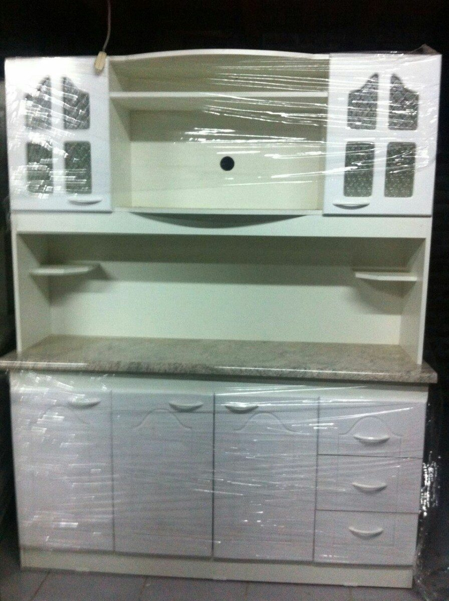 Mueble De Cocina Compacto 4 Cuerpos Espacio Para Microondas  # Muebles Microondas
