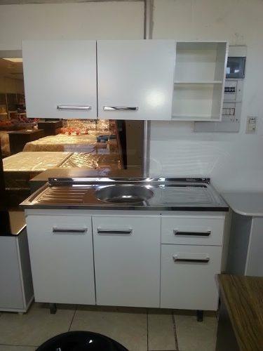 mueble de cocina con bajo mesada  y alacena 1200 mm