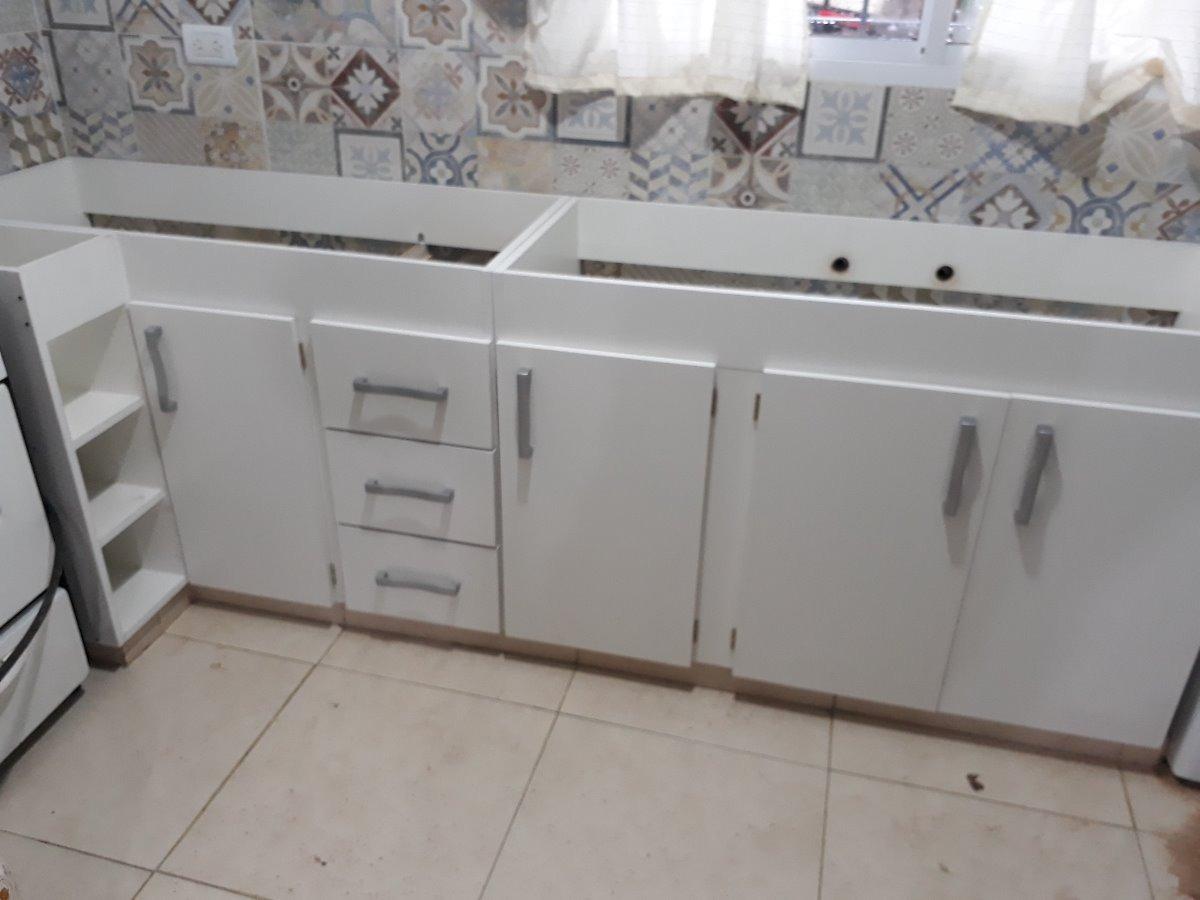 Mueble De Cocina Con Esquinero, En Melamina Blanca De 18 Mm ...