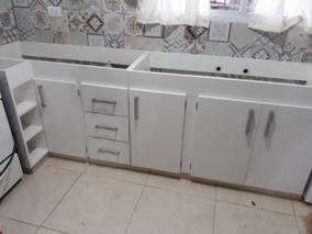 Mueble De Cocina Con Esquinero, En Melamina Blanca De 18 Mm