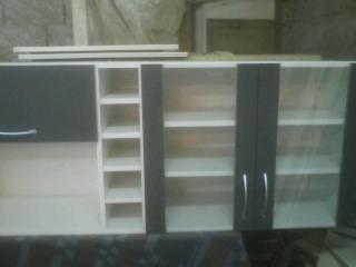 Mueble de cocina con puerts de vidrio botellero en 2 - Mueble botellero cocina ...