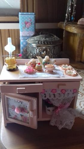 mueble de cocina en miniatura artesanal - escala 1.12