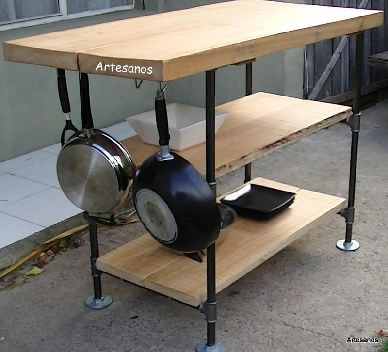 Mueble de cocina isla des ayunador imperdible artesanos for Muebles de cocina islas con ruedas