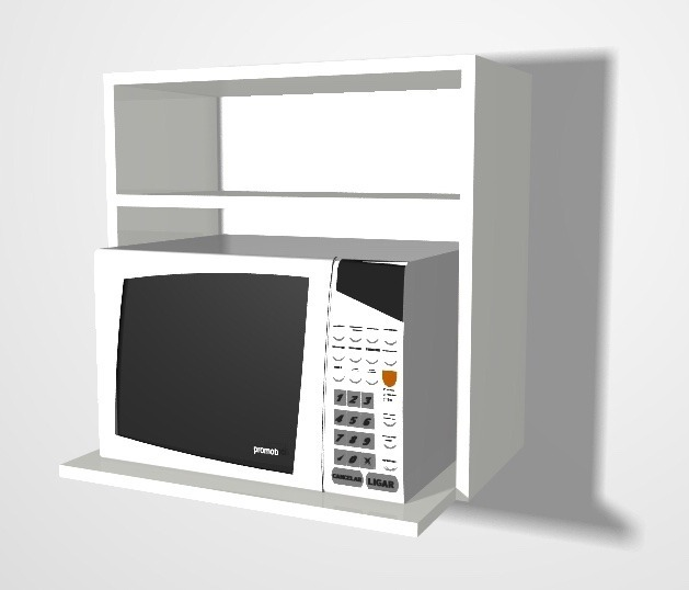 Mueble De Cocina Microondas Alacena De 60 X 60 - $ 1.309,00 en ...