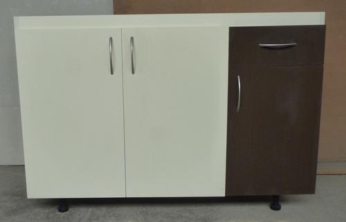 mueble de cocina para fregadero de sobreponer de 120x50
