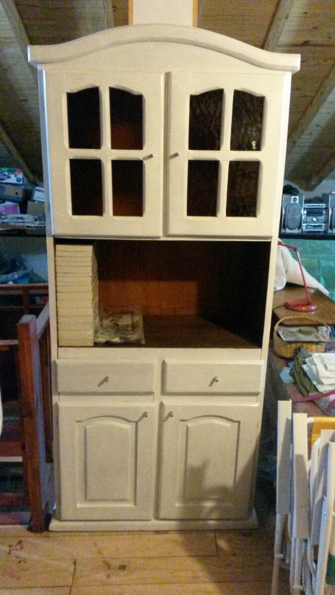 Mueble De Cocina Reciclado A Nuevo 4 Puertas 2 Cajones - $ 2.500,00 ...