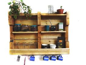 Mueble De Cocina Rústica Repisa - Nautarde Muebles