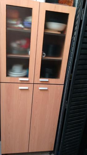 mueble de cocina sobre mesada mas alacena melamina 18