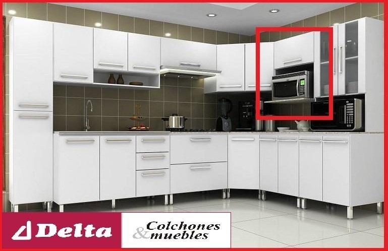 Mueble de cocina soporte para microondas equipamiento for Mueble cocina microondas