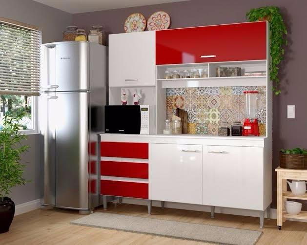 Mueble De Cocina Vittoria Rojo - Ikean - $ 143.910 en Mercado Libre