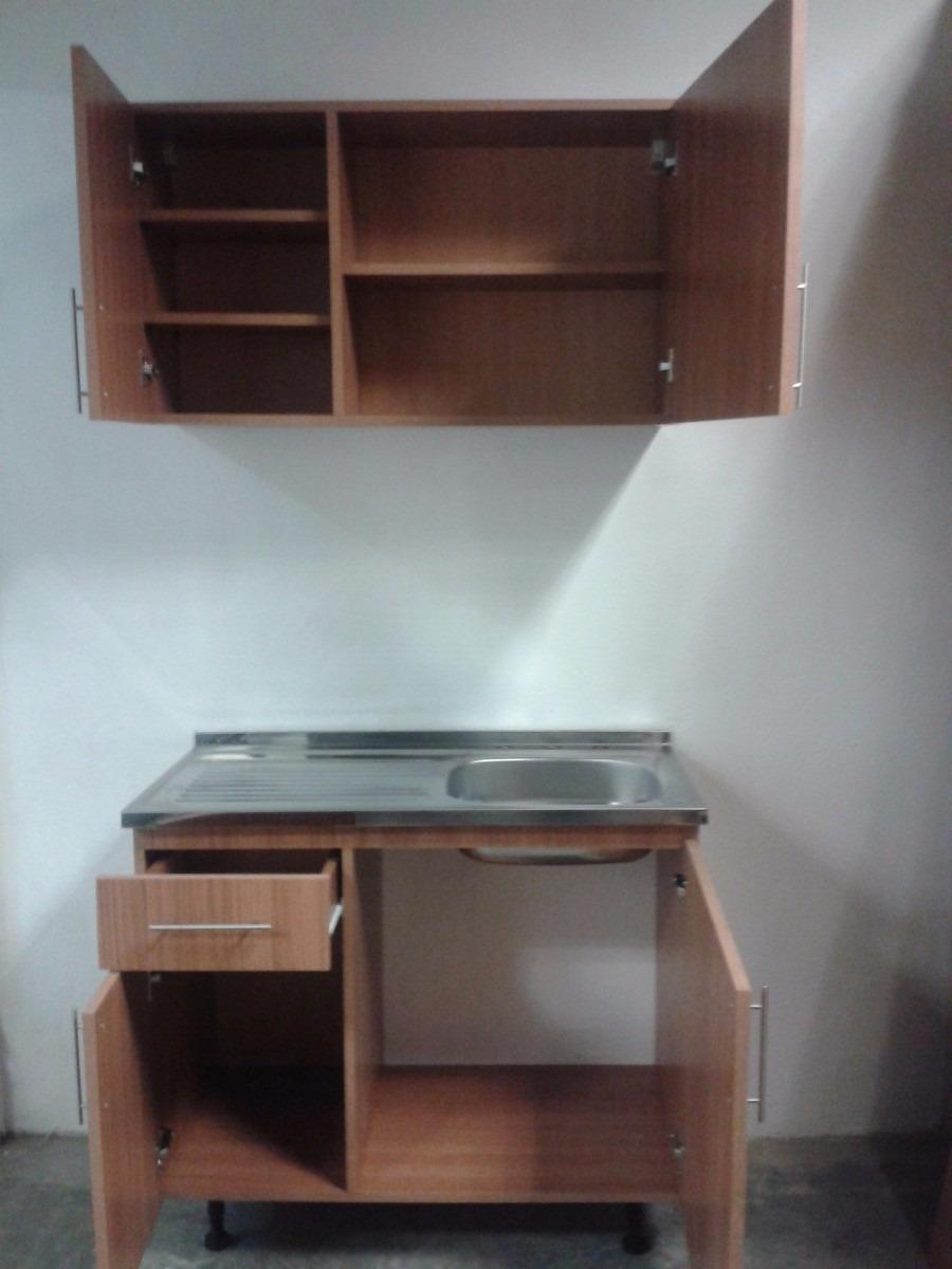 Mueble de cocinas para fregadero de sobreponer de 100x50 for Gabinetes de cocina en melamina