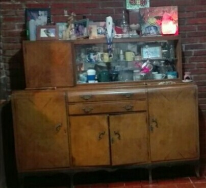 Mueble De Comedor Antiguo Con Cristalero, Vendo Urgente,!! - $ 3.500 ...