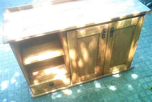Mueble de madera maciza para bachas de ba o for Muebles madera montevideo