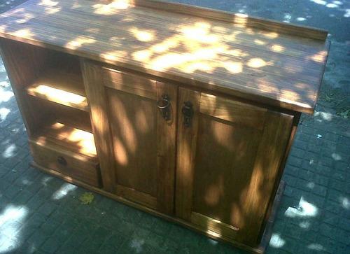 Mueble de madera maciza para bachas de ba o for Muebles de bano de madera maciza natural